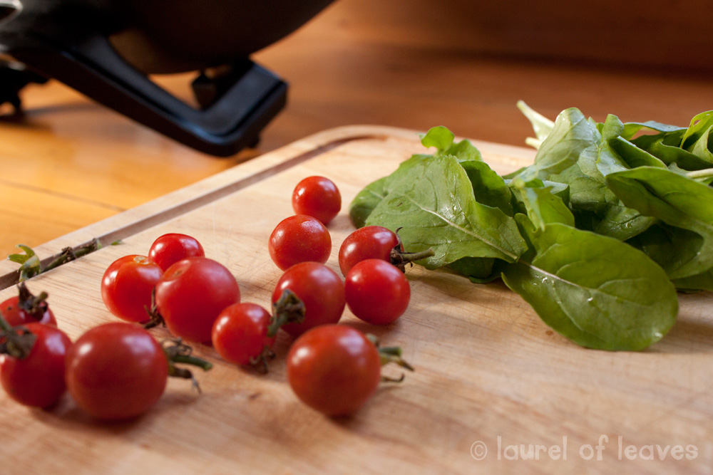 Tomatoes & Rocket from the Garden