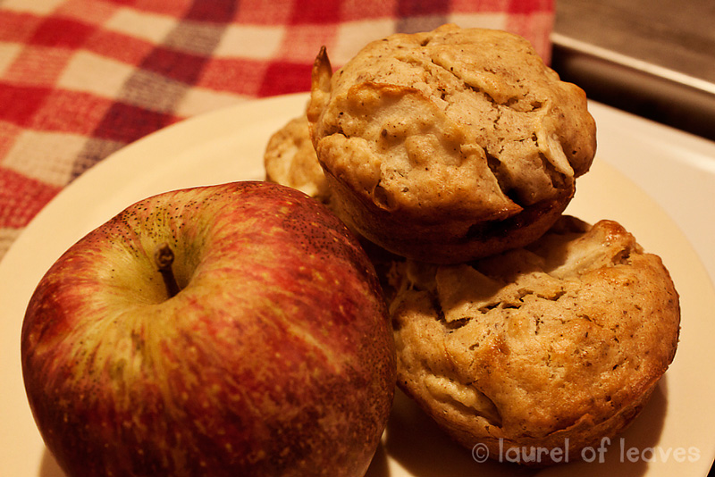 Date Filled Apple Muffins Ready to Serve