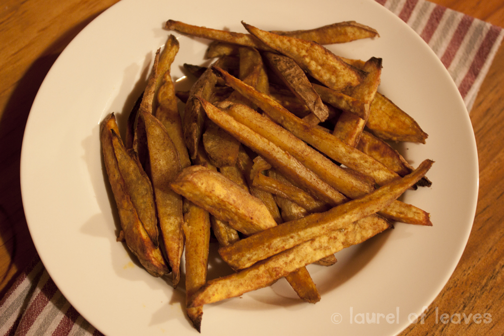 Kumara chips are fantastic served with just about anything–burgers ...
