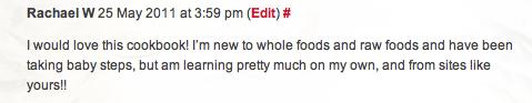 Rachael's Comment