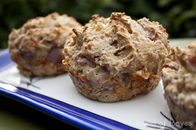 Savory Onion & Apple Muffins