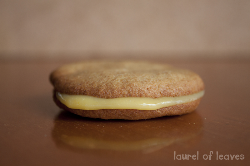 Lemon Rosemary Cookie Sandwich with Homemade Lemon Curd
