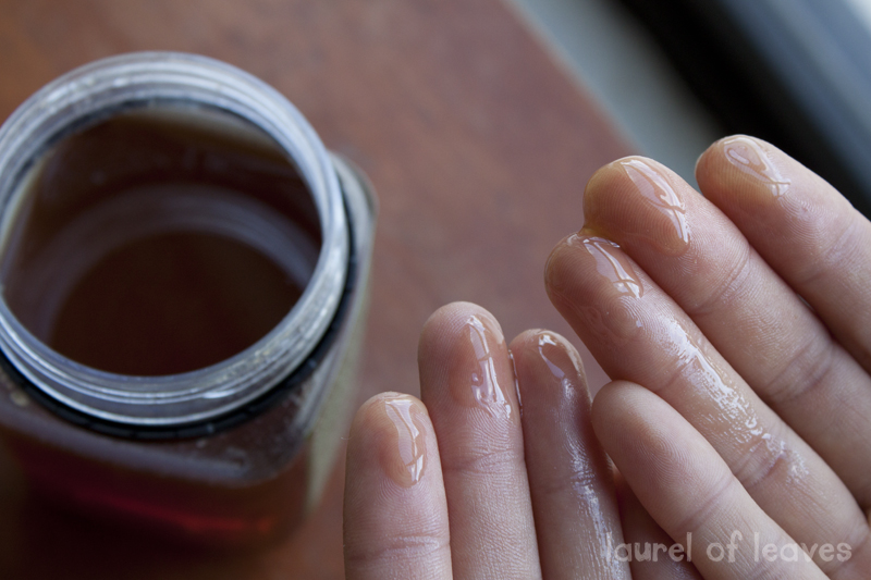 Honey on Fingertips