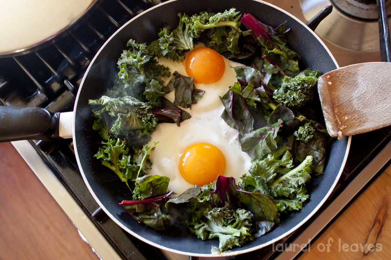 Eggs & Greens for Breakfast