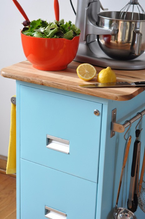 Kitchen Island from an Old Filing Cabinet