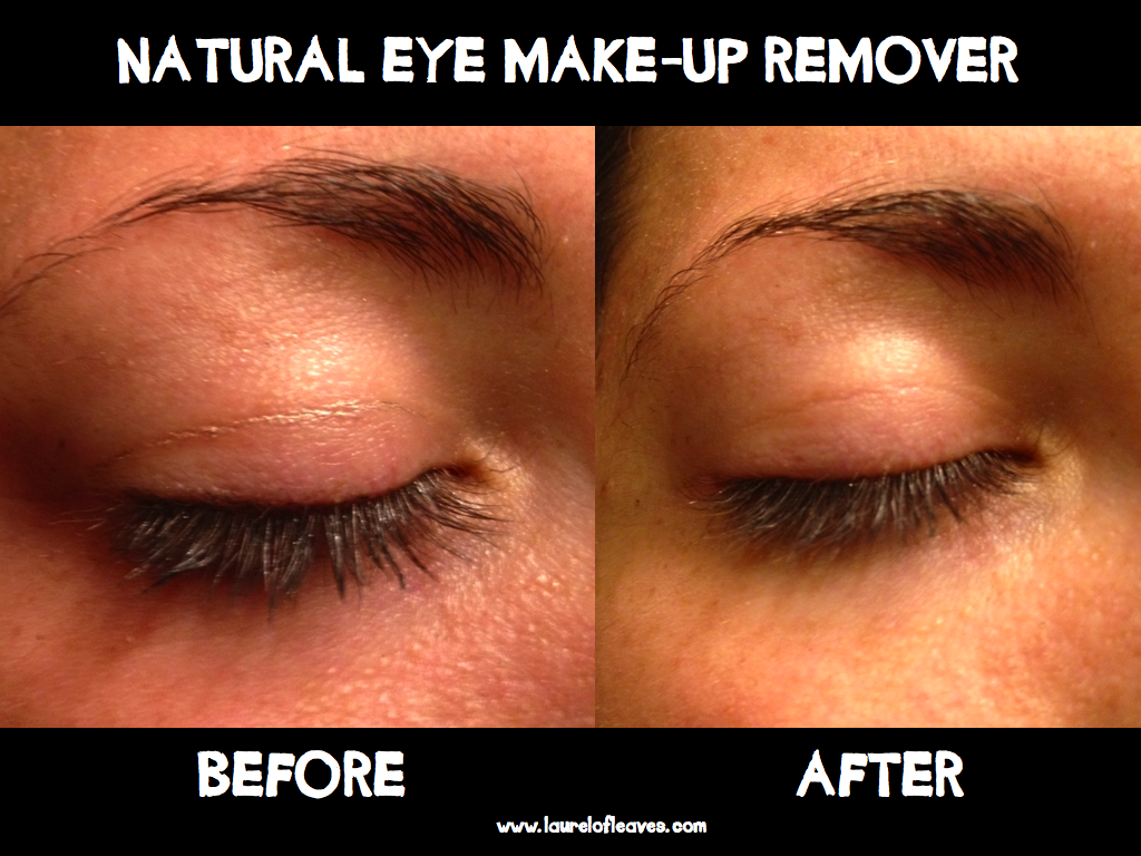 Eye Make-Up Remover Using Coconut Oil