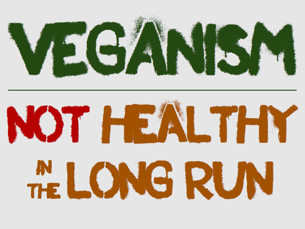 Veganism Not Healthy in the Long Run