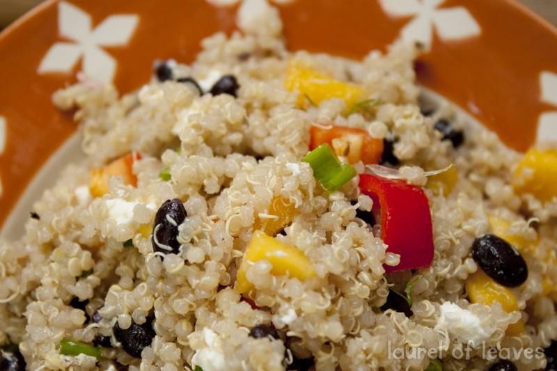 Mango Black Bean Quinoa Salad