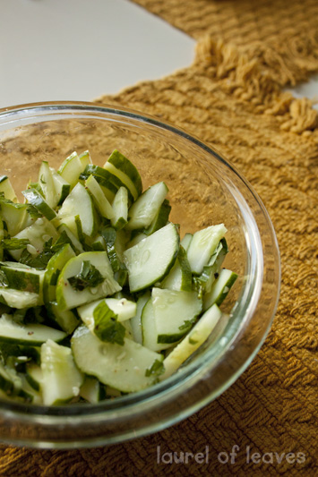 Easy Herbed Cucumber Salad